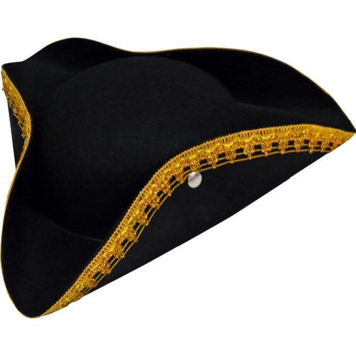 Tricorne Pirate Noir Enfant Achat / Vente chapeau perruque