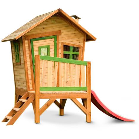 AXI Maisonnette bois ROBIN Livrée peinte Sur pilotis à prix