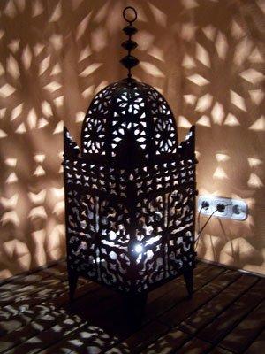 Lanterne en metal orientale artisanale de marrakech Frane 100cm