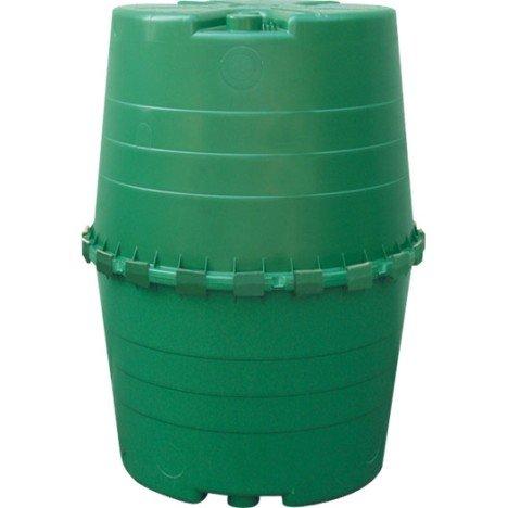 Récupérateur d'eau aérien GARANTIA cylindrique vert , 1300 l