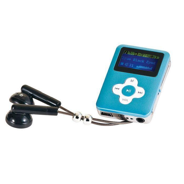 Lecteur MP3 bleu avec radio 4 GO lecteur mp3, avis et prix pas cher