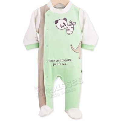 Pyjama naissance Mes animaux pré? Vert Achat / Vente pyjama