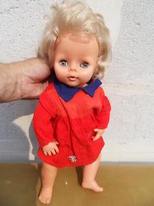 Ancienne poupée Tinnie RAYNAL vintage doll yeux dormeurs