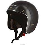 Astone Helmets Casque Jet Vintage Fibre, Carbone Noir, 59