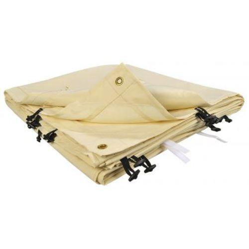 Ose Toile de rechange beige pour auvent ou tonnelle adossée 4 m x 3