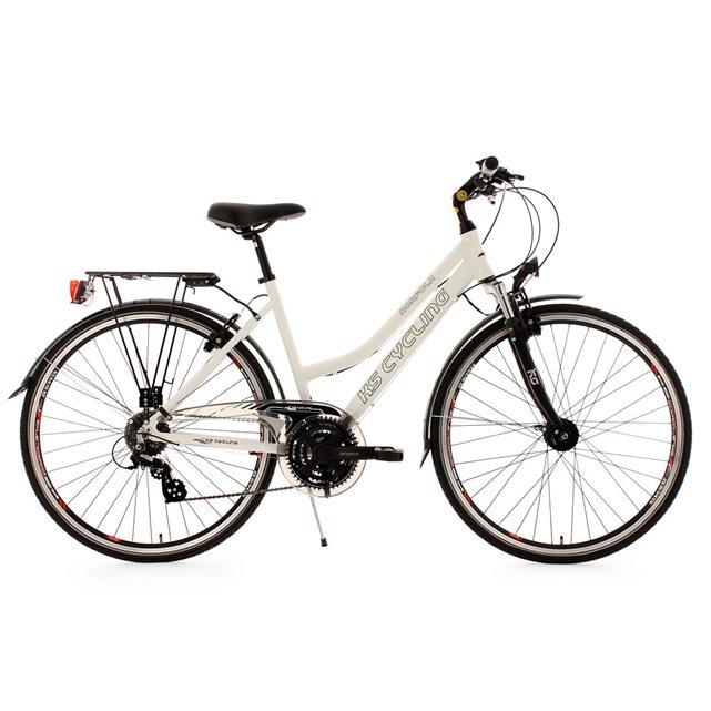 Vtc femme 28» norfolk fl blanc tc 53 cm ks cycling couleur unique Ks