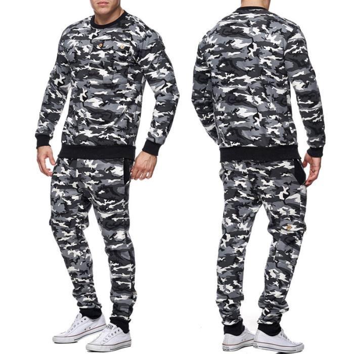 Survêtement militaire homme Sweat et jogging 661 noir Blanc Noir