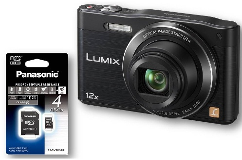Appareil photo compact Panasonic LUMIX DMC SZ8K+SD4GO (4022793)