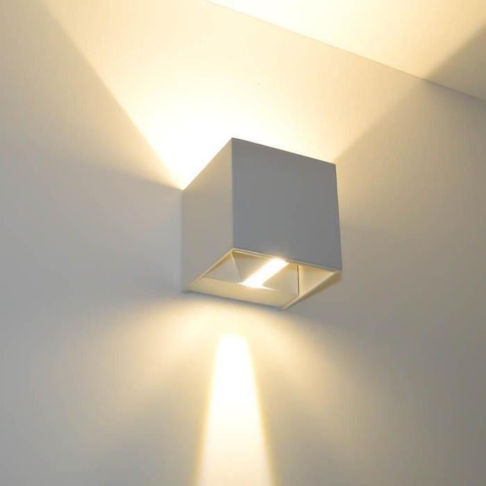 Applique murale blanche LED design Cubic Achat / Vente Applique