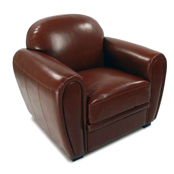 fauteuil en cuir topiwall. Black Bedroom Furniture Sets. Home Design Ideas