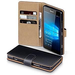 Microsoft Lumia 950 Accessoires, Terrapin Étui Housse en Cuir pour