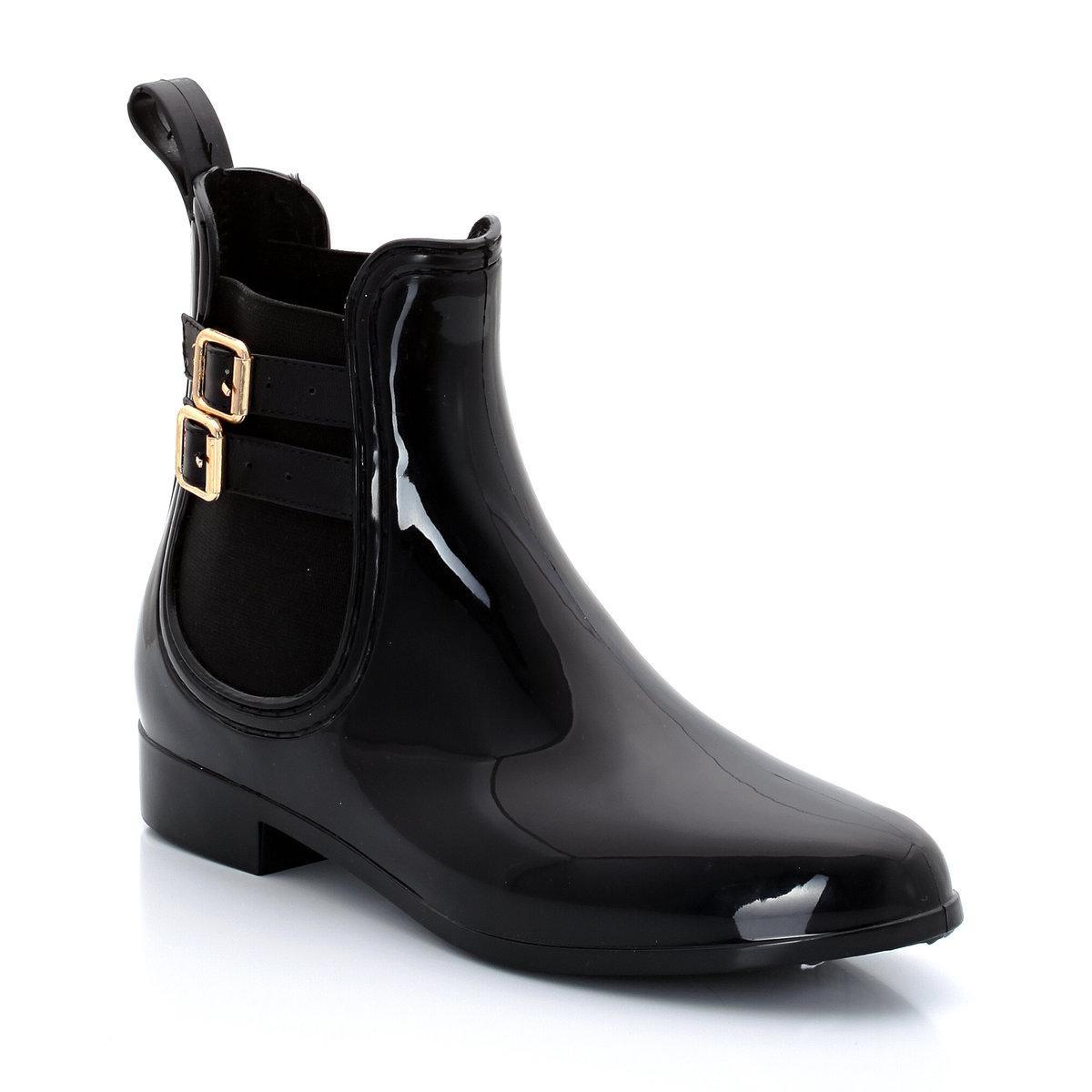 Boots de pluie esprit chelsea, brides et boucles Be Only