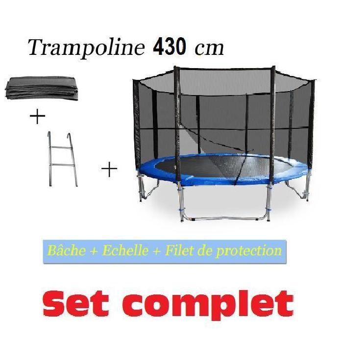 XL trampoline d'environ 4,30MHauteur du trampoline par rapport au sol