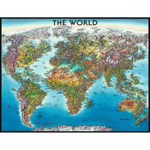 Ravensburger Puzzle 2000 pièces : Carte du monde pas cher Achat