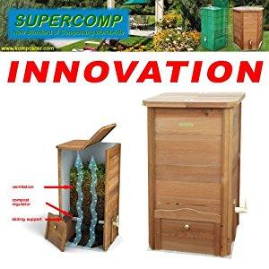 SUPERCOMP Composteur en bois de jardin Composteur Réalisé en