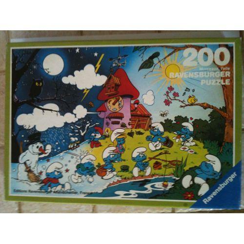 Puzzle Les schtroumpfs La machine du temps 200 pièces ravensburger