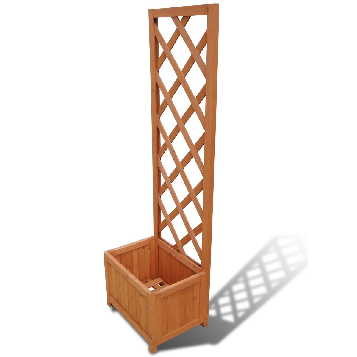 Jardinière avec treillis en bois Jardiniere Bac à fleurs avec