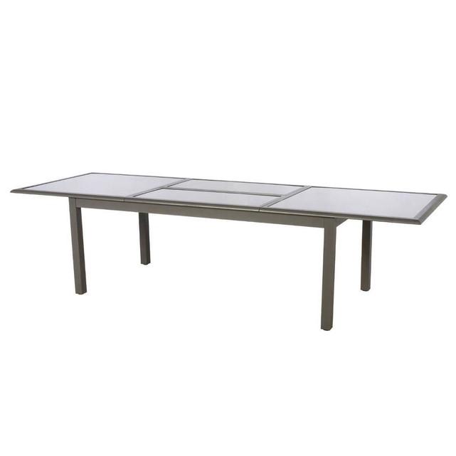 HESPERIDE Table extensible rectangulaire Azua 8/12 places Taupe | La