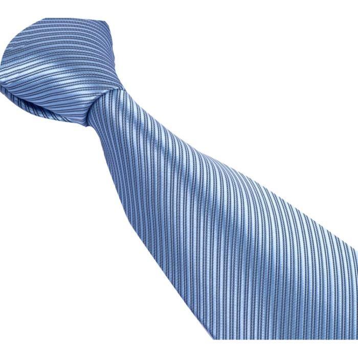 CRAVATE N?UD PAPILLON Cravate pour homme Bleue Ciel à fines lignes