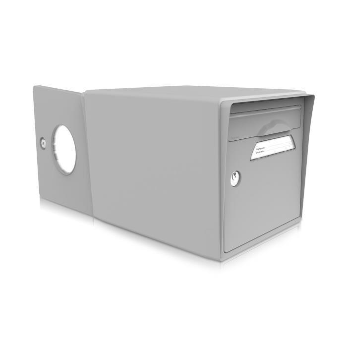 Boite aux lettres 2 portes grise Achat / Vente boite aux lettres