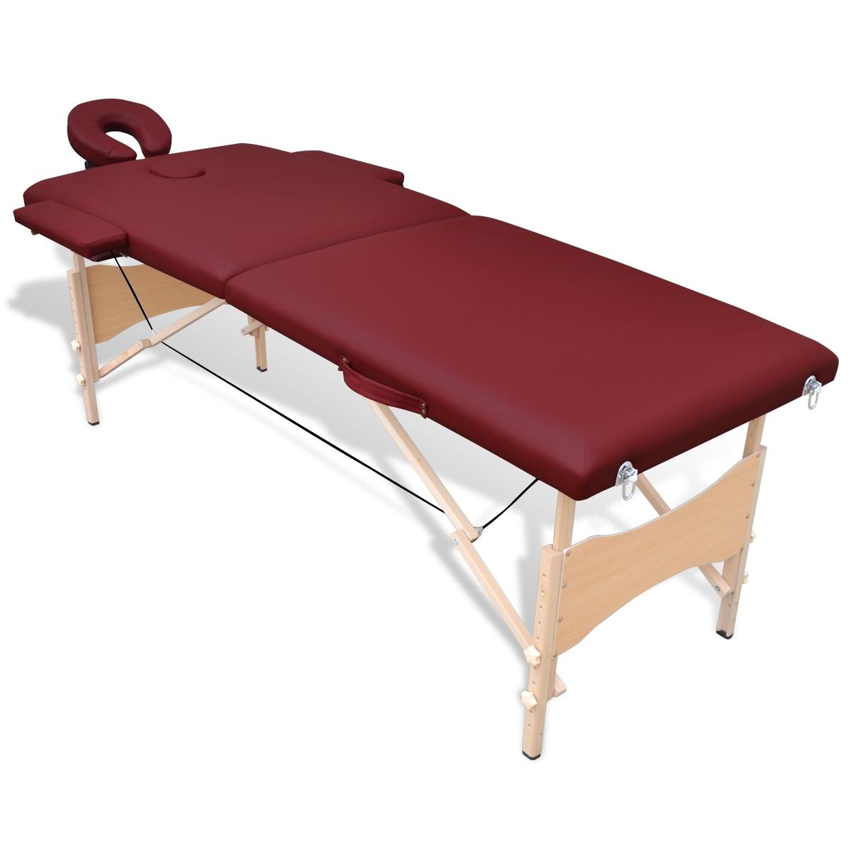 Table de Massage Pliante en bois avec 2 Zones Tables de massage avec