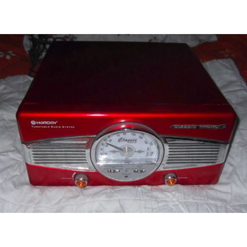 Ensemble Retro Classic Radio Homday 214252 Platine Vinyle Et Radio