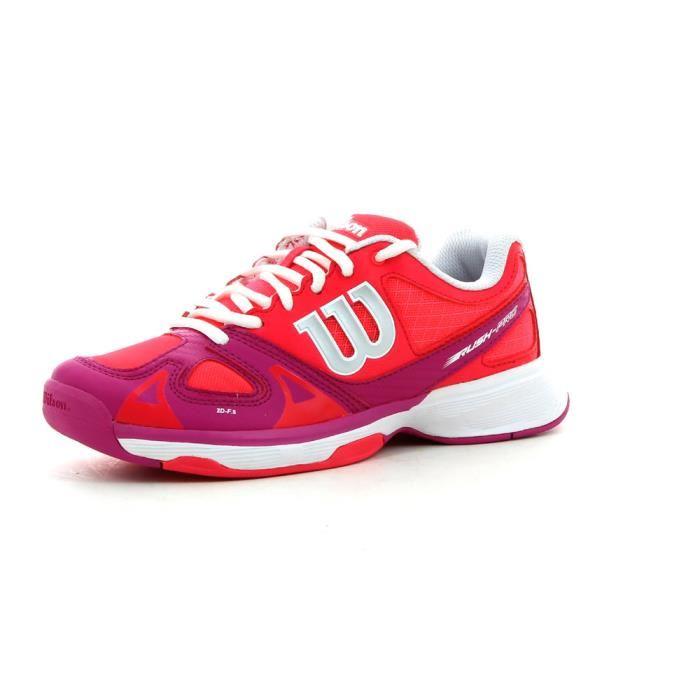 de tennis Wilson Rush Pro Jr Rouge Rouge Achat / Vente chaussures de