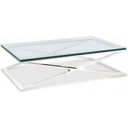table basse design verre trempé croisade Achat / Vente table basse