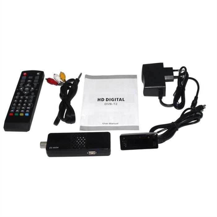 K1 DVB T2 Boîtier Décodeur Récepteur Numérique Terrestre FullHD
