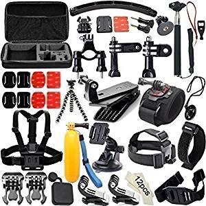 50 en 1 Sports de plein air Kit d'accessoires pour GoPro Hero 4 Silver
