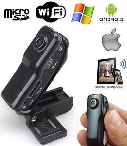 Mini camera espion WiFi Android iPhone tablette babycam video Micro SD