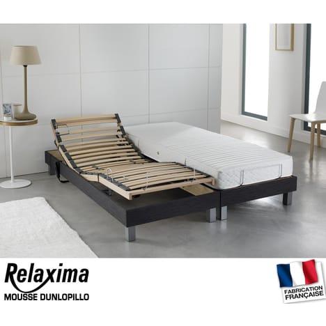 Lit relaxation électrique TPR DUNLOPILLO Lit 180×200 cm RELAXIMA