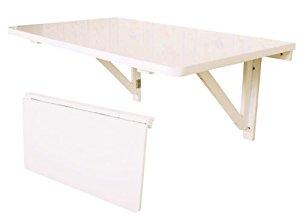 FWT06 W Table murale rabattables, Table de cuisine pliante, Table