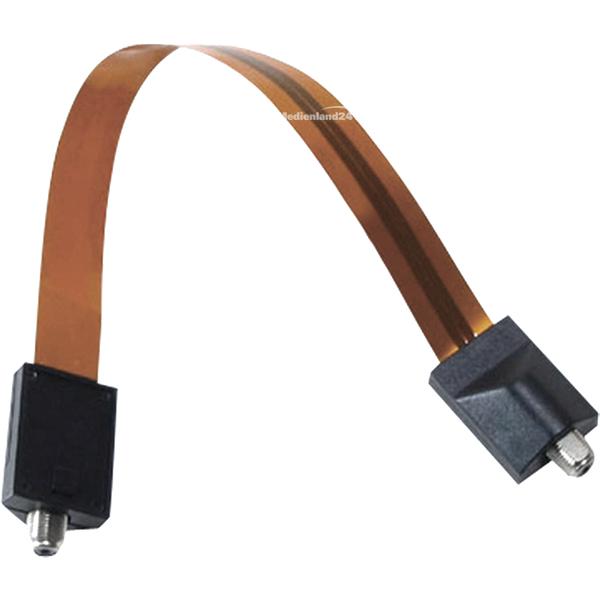 Câbles passe fenêtre pour Câble coaxial extra plat + 2x fiche f