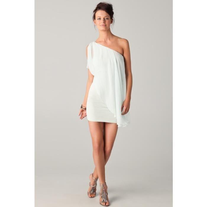 Robe de mariée courte asymétrique Ivoire Achat / Vente robe de
