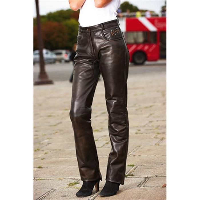 Pantalon Cuir Femme MAC ADAM 2013 Star Marron Achat / Vente vetement