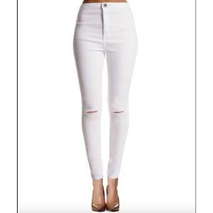 Jeans slim blanc femme Achat / Vente Jeans slim blanc femme pas cher