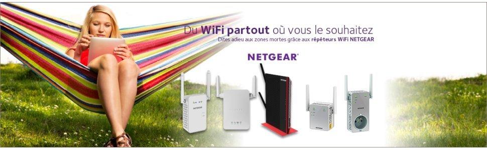 Netgear EX3800 100FRS Répéteur Wi Fi AC750 Mbps Blanc