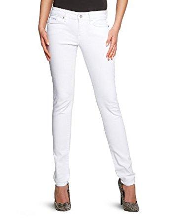 Pepe Jeans Jean Skinny/Slim Femme Blanc (000Denim) FR : 32W