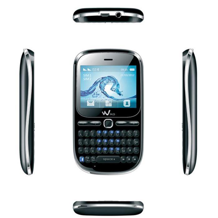 WIKO DOLFY Noir téléphone portable, prix pas cher