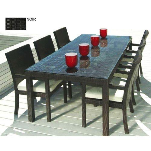 Kgarden Miami noir. Ensemble de Jardin Table et Chaises Salon d