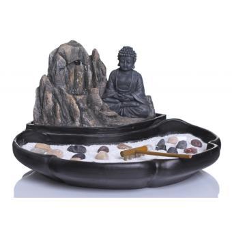 Fontaine jardin zen Fontaine bouddha avec statuette et accessoires