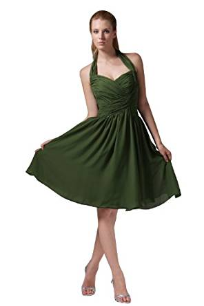 herafa p31602 8 Robes De Bal Style Minimaliste Halterneck Sans manche