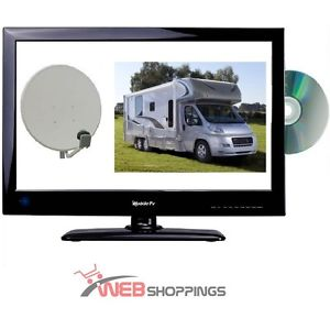 COMBI TV DVD LED TNTHD 22 034 56CM RECEPTEUR SATELLITE integre FRANSAT