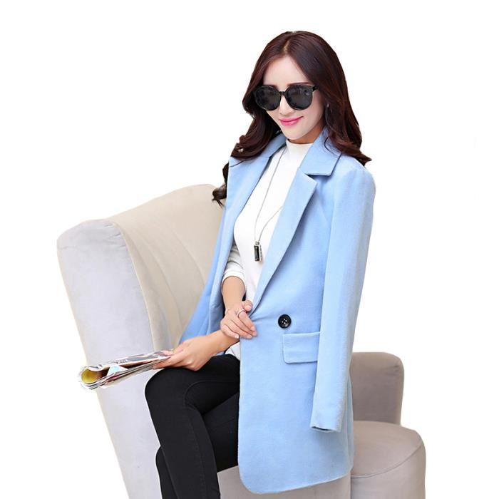 veste hiver bleu clair