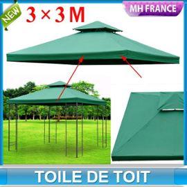 Toile De Rechange Pour Pavillon Tonnelle Tente 3 X 3 M Vert Fonce 83