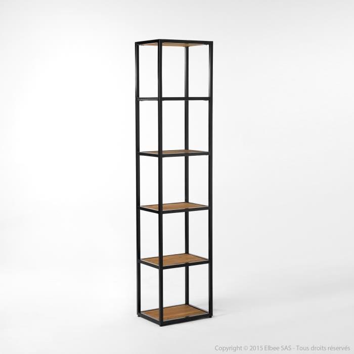 Etagère en métal et bois 4 niveaux Hauteur 180cm CLAYTON Achat