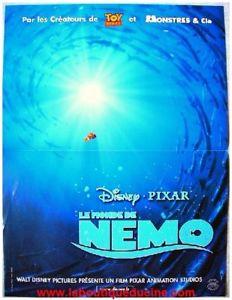 LE MONDE NEMO FINDING NEMO Affiche Cinema Movie Poster WALT DISNEY