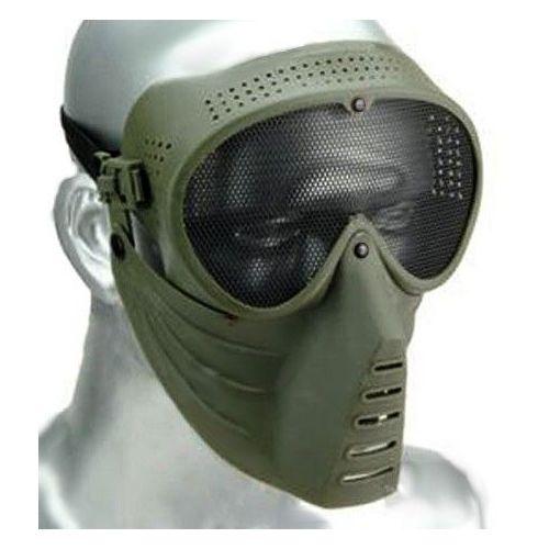 Masque De Protection Visage Avec Lunettes À Grille Pour
