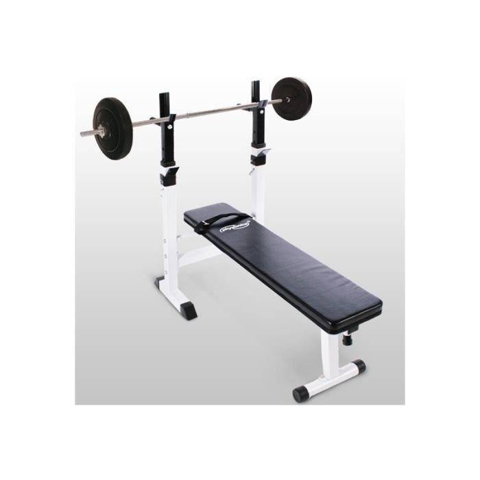 Banc de musculation avec set haltère 20 kg sport fitness musculation